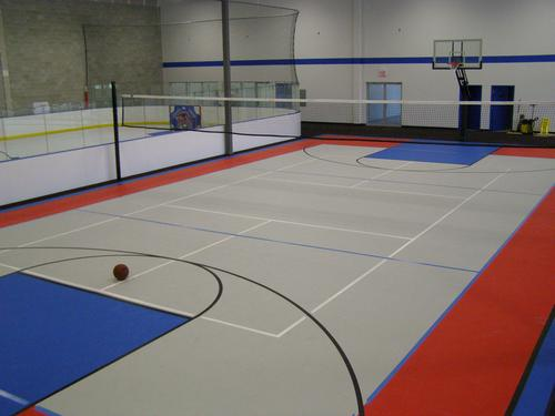 Gymnasium flooring at school in Long Island
